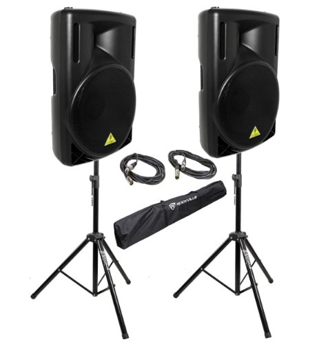 Behringer Powered Speakers Stands Cables