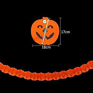 VENI MASEE® Halloween Kit de decoración de Halloween guirnalda de papel, papel de seda guirnalda Set Halloween Party Kit