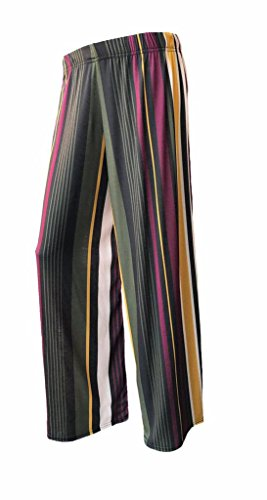 RM Ladies Floral Print Palazzo Trousers Womens Summer Wide Leg Pants Plus Sizes
