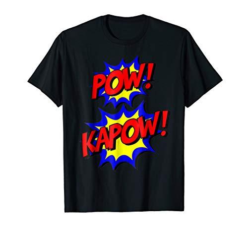 Pow Kapow T-Shirt Easy Funny Superhero Halloween Costume -