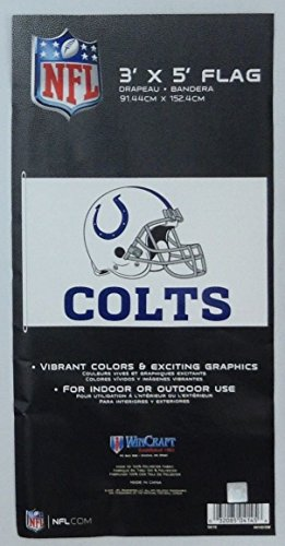 Helmet Design Premium Flag with D-Rings (3' X 5', Indianapolis Colts) ()