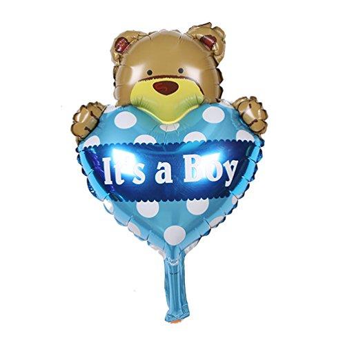- JUIOKK It's a Boy/Girl Mylar Bear Balloon for Baby Shower Birthday Party-5/10PCS