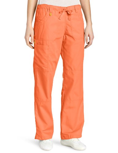 WonderWink Women's Scrubs  Cargo Pant, Orange Sherbet, 3X-Large