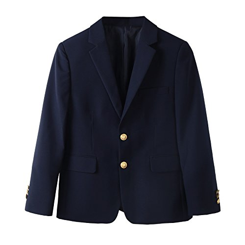 Bienzoe Boy's Durable Teflon School Uniform Blazer