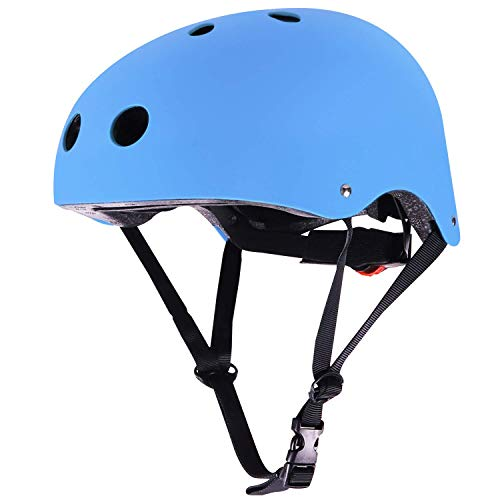 (WIN.MAX WinMax Multi-Sport Skateboarding Skating & Cycling Safety Bike Helmet for Kids (Blue, M) )