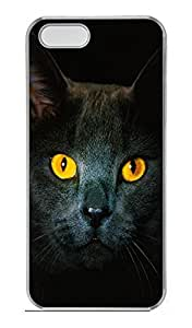 iPhone 5S Case, iPhone 5 Cover, iPhone 5S Golden Eyes Hard Clear Cases