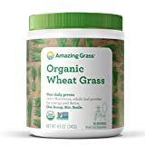 Organic Wheat Grass Powder, by Amazing Grass 30 Servings, 8.5oz, Greens, Detox, Alkalize, whole leaf, Gluten Free, USDA Organic, GMO Free, Kosher, wheatgrass, vegan