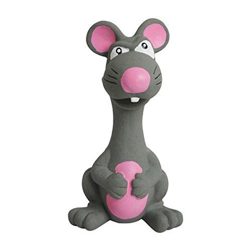 Jouet Anneau de dentition pour chien noblesse, de latex en forme de souris gris, longueur 15cm Nobleza