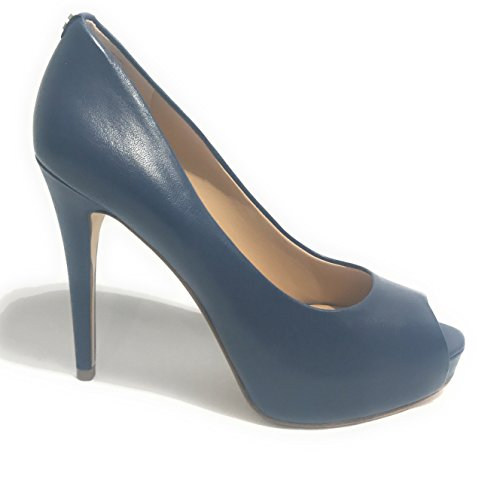 Dress Toe Tacco Con Footwear Donna Open Blu Scarpe Col Plateau Guess C5AqwBW