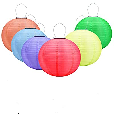 IREALIST 16.4ft 20 Lantern Ball Lights,Solar Powered Christmas String Lights,Decorative Lighting for Indoor, Garden, Home, Patio, Lawn, Party and Holiday Decorations