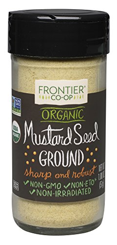 Frontier Ground Organic Mustard Seed, Yellow, 1.8 Ounce (Pack of 12) by Frontier