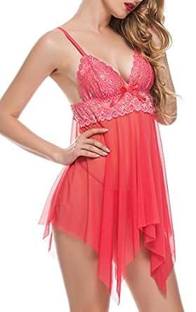 Amazon.com: BMAKA Petite Size V-Neck Womens Babydolls Lace ...