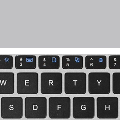 Fintie iPad Pro 9.7 / iPad Air 2 Keyboard Cover - [Multi-Angle] 7 Colors Backlit Slim Wireless Bluetooth Keyboard (with Auto Wake / Sleep) for Apple iPad Air 2 / iPad Pro 9.7 (Silver) by Fintie (Image #2)