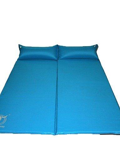 ZQ Aufgeblasene Matte/Camping Polster/Schlafpolster ( Rot/Blau ) - Feuchtigkeitsundurchlässig/Wasserdicht - PVC