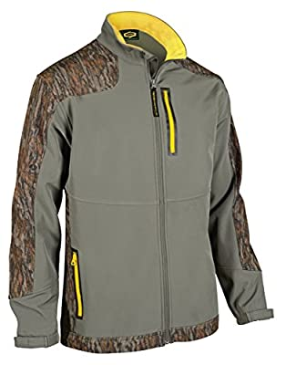 Yukon Gear Men's Windproof Softshell Fleece Jacket