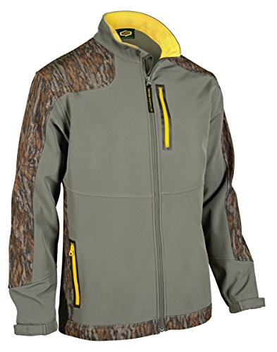 Yukon Gear Men's Windproof Softshell Fleece Jacket, Mossy Oak Bottomland, Medium
