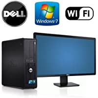 "Workplace Computer: Dell Optiplex 780 SFF Desktop Pc Bundle - Powerfull Intel Core 2 Quad @ 2.4ghz - New 1tb HDD w/ 2 Year Warranty- Loaded 8gb RAM - Windows 7 Professional 64-bit - Wifi Installed - Dvd-rw (From ReCircuit) + NEW Dell 24"" Monitor"