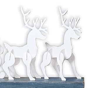 Outdoor White Reindeer - Set of 2