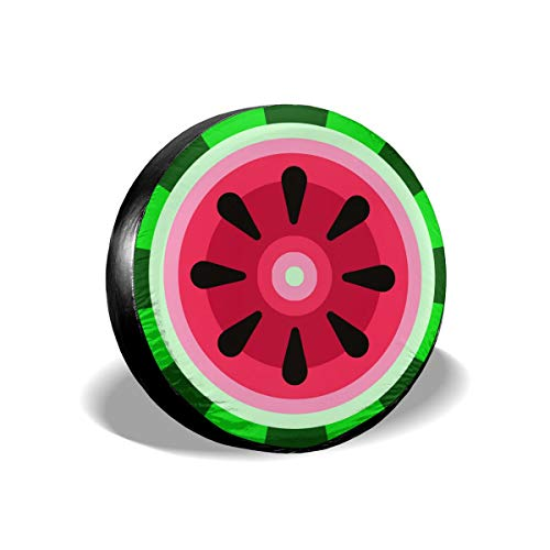 Uktly Waterproof Spare Tire Cover Watermelon Universal Sun Protector Dust - Proof Wheel Covers for Jeep, Trailer, RV, SUV, Truck and Other Vehicle, Fits 24