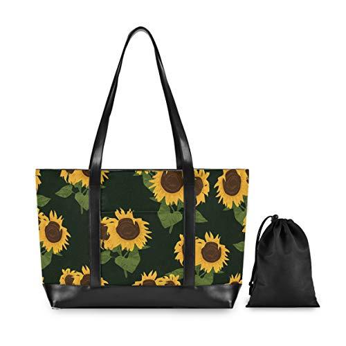 Laptop Tote Bag – Sunflower Women Business Shoulder Work Bag 15.6Inch Notebook