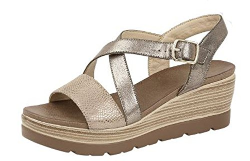 L585 Black 40 KD Crossover 7 Wedge Cipriata Ladies Pewter EU Pewter UK and Sandals Strap 1qn8Rw