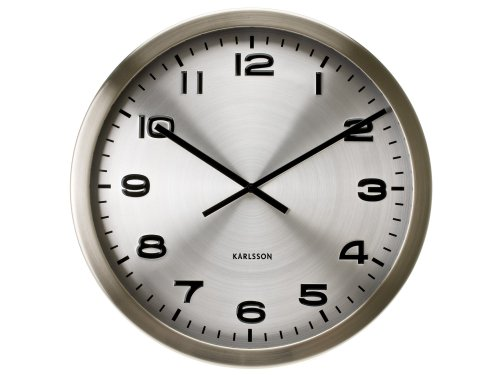 Karlsson Wall Clock Maxie, Steel Polished Aluminum