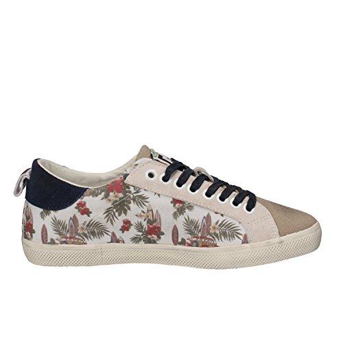 D.A.T.E. , Damen Sneaker beige Beige / Blau