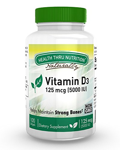 High Potency Vitamin D3 5000 IU / 100 Softgels