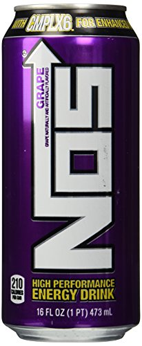 NOS Energy Drink, Grape, 16-Ounce (Pack of 8) (Grape Nos Energy Drink)