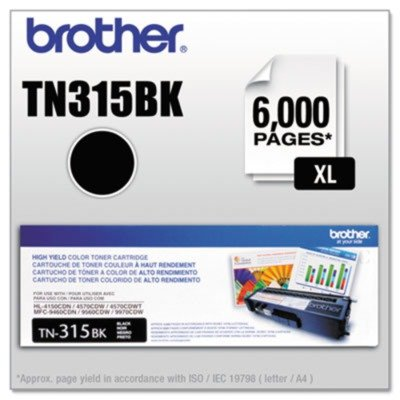 Brother TN315BK Yield Toner Cartridge