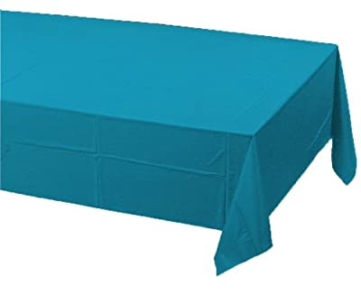 Creative Converting Touch of Color Plastic Table Cover, 54 by 108-Inch, Turquoise from Creative Converting