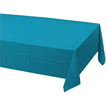 Creative Converting Plastic Banquet Table Cover, Turquoise