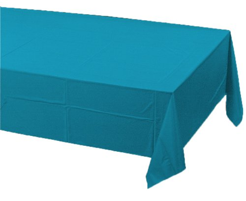 Creative Converting Plastic Banquet Table Cover, Turquoise -