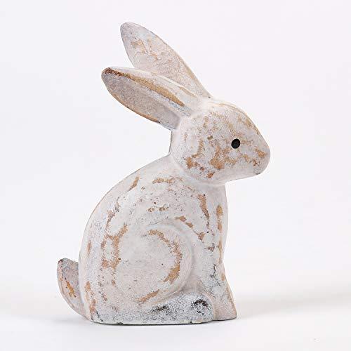 One Hundred 80 Degrees White Carved Bunny