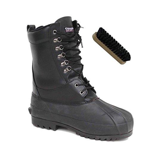 Kälteschutzstiefel Snow Boot Thinsulate + AOS-Outdoor® Schuhbürste schwarz