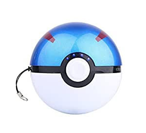 Pokemon GO - Portable 2-Port Power Bank External Battery 12000mAh Fast Charger for iPhone, Android, and all other devices … (Great Ball)