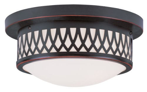 3 L Essex Livex Antique Brass Bathroom Vanity Lighting: Livex Lighting 7351-67 Westfield 2-Light Ceiling Mount