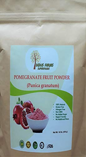 100% Pure Pomegranate Fruit Powder, 16 oz, Eco-friendly pouch, Air tight & Resealable