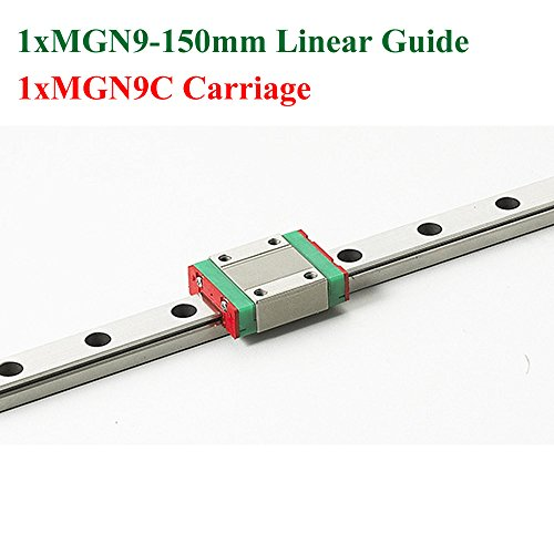 MR9 9mm Mini Linear Guide Rail Length 150mm MGN9 With MGN9C Linear Block For CNC X Y Z Axis