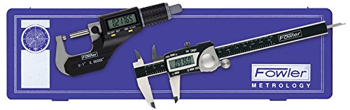 Fowler 54-004-850-0, Electronic Caliper & Micrometer Measuring Kit by Fowler