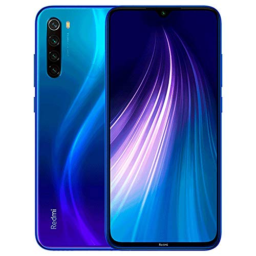 Xiaomi Redmi Note 8 64GB + 4GB RAM, 6.3' LTE 48MP Factory Unlocked GSM Smartphone - International Version (Neptune Blue)