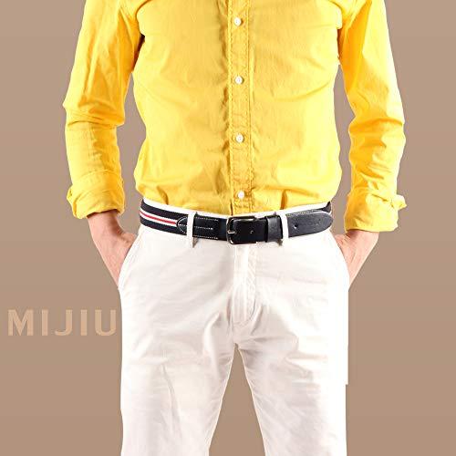 Stripe Di Elastico Pantaloni Per 10 Fibbia Casual Regalo Multicolore Cinture Desiderio Uomo Confezione Tessuto 0qA7Enxp