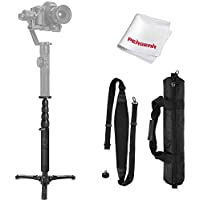 Zhiyun Telescopic Monopod for Zhiyun Crane 2 Zhiyun Crane Plus Zhiyun Crane V2 Zhiyun Crane-M MOZA Air MOZA AirCross and other Handheld Gimbals Weigh Less than 15Lbs