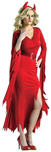 Gothic Devil Female Costumes (Gothic Devil Adult Costume - Medium/Large)