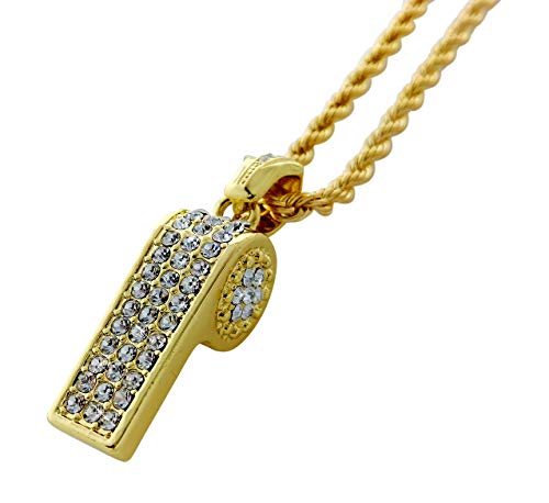 whistle necklace gold - 2