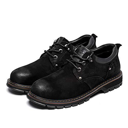 Para Moda color Punta Eu Costura Cómoda Negro Negro Cuero Trabajo Tamaño De 44 Redonda Zapatos Oxford Personalidad Hombres Negocios wEO1vI