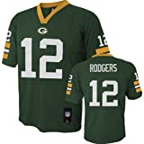 Aaron Rodgers Green Bay Packers Green Youth Jersey Medium 10-12