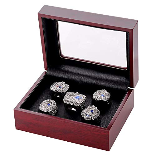 (Replica Championship Ring for New England Patriots Gift Fashion Ring (A Set of 5))