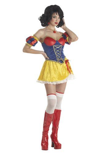 [Snow White Costume - Adult Rebel Toons Costume - Small (6-8)] (Rebel Snow White Adult Womens Costumes)