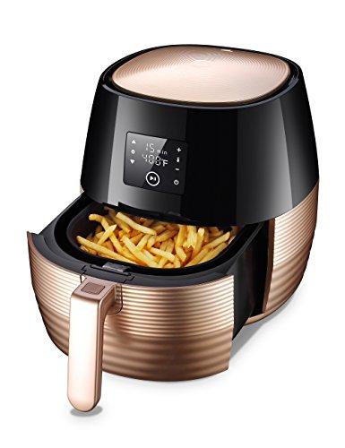 TILUXURY Digital Hot Air Fryer with 3.7QT Detachable Basket,